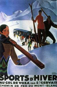Sports d'Hiver, 1929 by Roger Broders