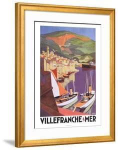 Villefranche by Roger Broders