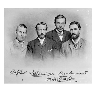 Roger Casement, Herbert Ward, E.J Glave and Friend-English Photographer-Giclee Print