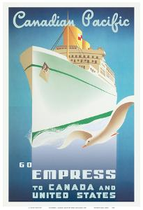 Go Empress - To Canada and United States - Canadian Pacific by Roger Couillard