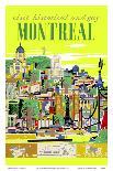 Winter at the Chantecler Hotel - Woman Skier - Laurentian Mountains - Sainte-Adèle, Quebec Canada-Roger Couillard-Art Print
