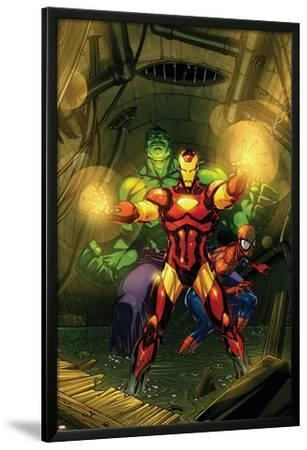 Marvel Adventures Super Heroes No.4 Cover: Iron Man, Hulk and Spider-Man