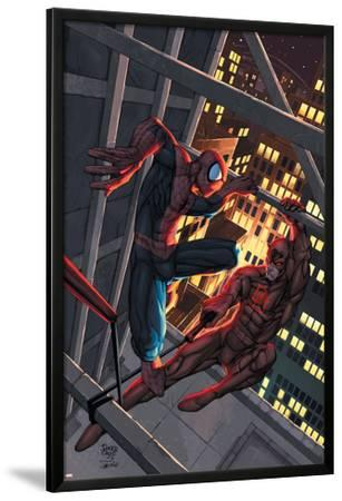 Marvel Age Spider-Man No.15 Cover: Spider-Man and Daredevil