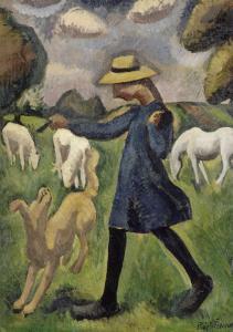 La bergère. Marie Ressort enfant by Roger de La Fresnaye
