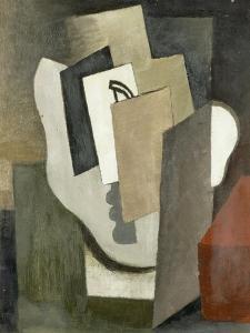 """Le masque, étude pour """"le Prestidigitateur"""" by Roger de La Fresnaye"""