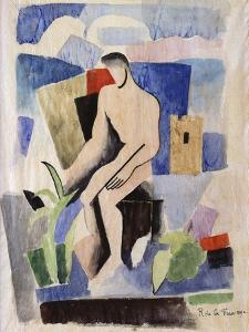 Man in the Country, Study for Paludes; Homme Dans Un Paysage, Etude Pour Paludes, c.1920 by Roger de La Fresnaye
