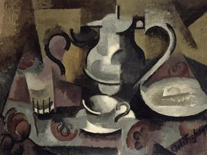 Still Life with Three Handles by Roger de La Fresnaye