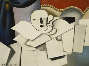 The Clown; Le Pierrot, 1922 by Roger de La Fresnaye
