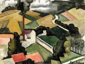The Fireplace Factory by Roger de La Fresnaye