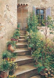 Stairway in Provence by Roger Duvall