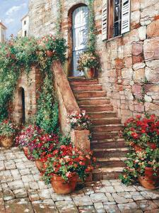 Stone Stairway, Perugia by Roger Duvall