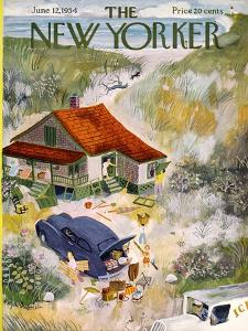 The New Yorker Cover - June 12, 1954 by Roger Duvoisin