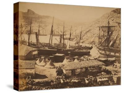 Russian Warships in the Cossack Bay, Balaklava, Ca 1855