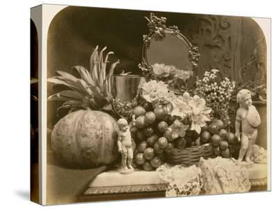 Still Life of Fruit with Mirror and Figurines, 1860