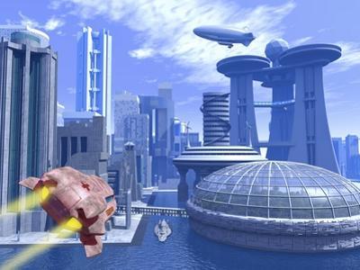 Futuristic City, Artwork by Roger Harris