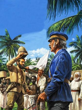 Henry Stanley Greets David Livingstone