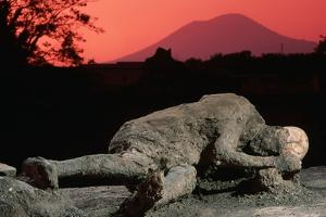 Cast of Pompeiian Victim of Mount Vesuvius by Roger Ressmeyer