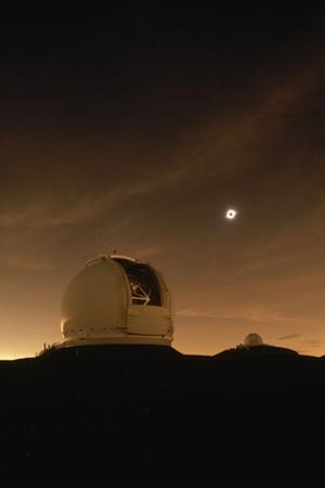 Eclipse over Keck Observatory