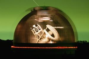 Hale Telescope Inside Palomar Observatory by Roger Ressmeyer