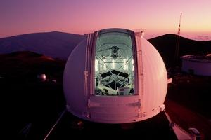 Keck Telescope at Twilight by Roger Ressmeyer