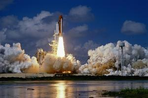 Launch of the Space Shuttle Discovery by Roger Ressmeyer