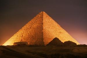 Pyramid of Cheops at Night by Roger Ressmeyer