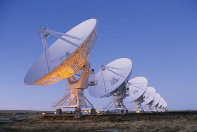 Radio Telescope Array at Dawn
