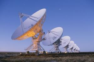 Radio Telescope Array at Dawn by Roger Ressmeyer