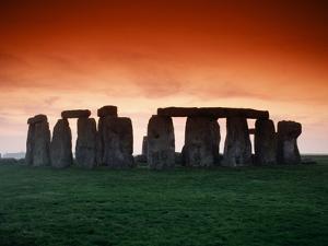 Red Sky over Stonehenge by Roger Ressmeyer