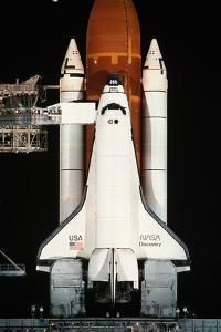 Space Shuttle Illuminated at Night by Roger Ressmeyer