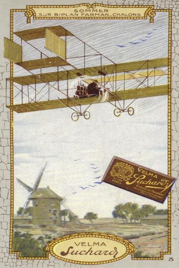Roger Sommer in a Farman Biplane, Chalons-Sur Marne, France--Giclee Print