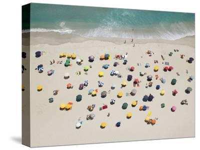 Umbrella Pattern on Beach