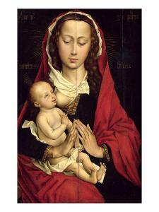 Madonna and Child (Oil on Panel) by Rogier van der Weyden