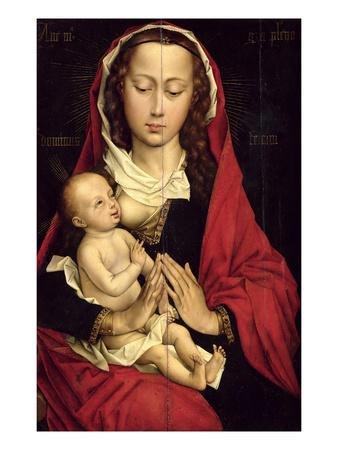 Madonna and Child (Oil on Panel)