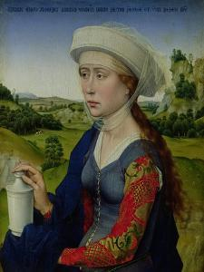 Mary Magdalene, from the Right Hand Panel of Triptych of the Braque Family by Rogier van der Weyden