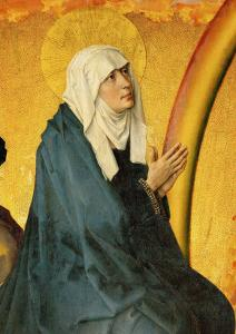 Saint Mary, Supposed to be a Portrait of Mme. Rolin, Wife of Nicolas Rolin by Rogier van der Weyden