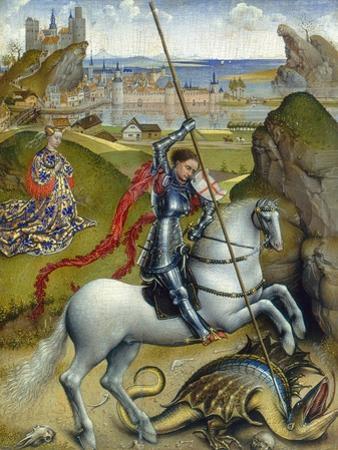 St. George and the Dragon, c.1432/1435 by Rogier van der Weyden