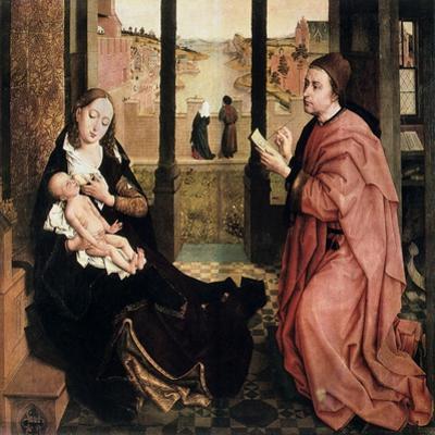 St Luke Drawing the Virgin, 15th Century