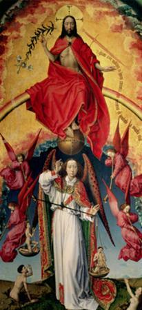 St. Michael Weighing the Souls, from the Last Judgement, C.1445-50