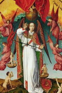 The Last Judgement, Detail of the Archangel Michael, 1434 by Rogier van der Weyden