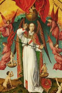 The Last Judgement, Detail of the Archangel Michael, 1434 by Rogier van der Weyden