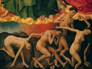 The Last Judgement, Detail of the Entrance of the Damned into Hell, circa 1445-50 by Rogier van der Weyden