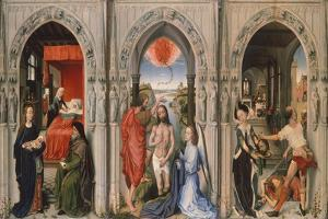 Triptych of Baptist by Rogier van der Weyden