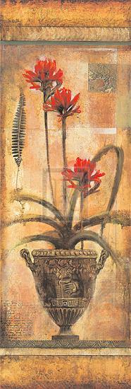 Rojo Botanical VII-John Douglas-Art Print