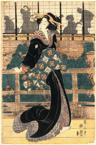 Roka No Geigi-Kikukawa Eizan-Giclee Print