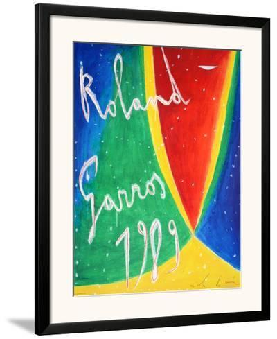 Roland Garros 1989 - De Maria-Nicola De Maria-Framed Art Print