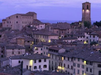 Anghiari at twilight, Vitaleta, Tuscany, Italy