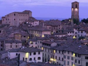 Anghiari at twilight, Vitaleta, Tuscany, Italy by Roland Gerth