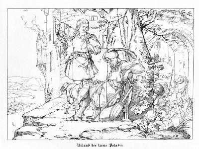 Roland, the Faithful Paladin, Engraved by J. Dielmann-Alfred Rethel-Giclee Print