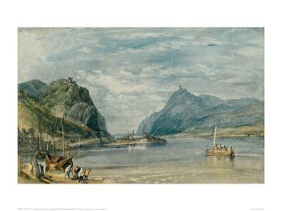 Rolandseck, Nonnenwerth and Dachenfels, 1817-J^ M^ W^ Turner-Giclee Print